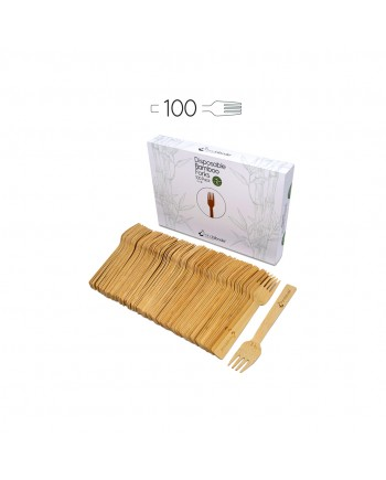 Disposable Bamboo Forks 100 Pack