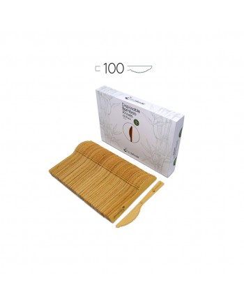 Disposable Bamboo Knives 100 Pack