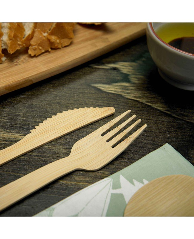 Disposable Bamboo Cutlery 24 Pack