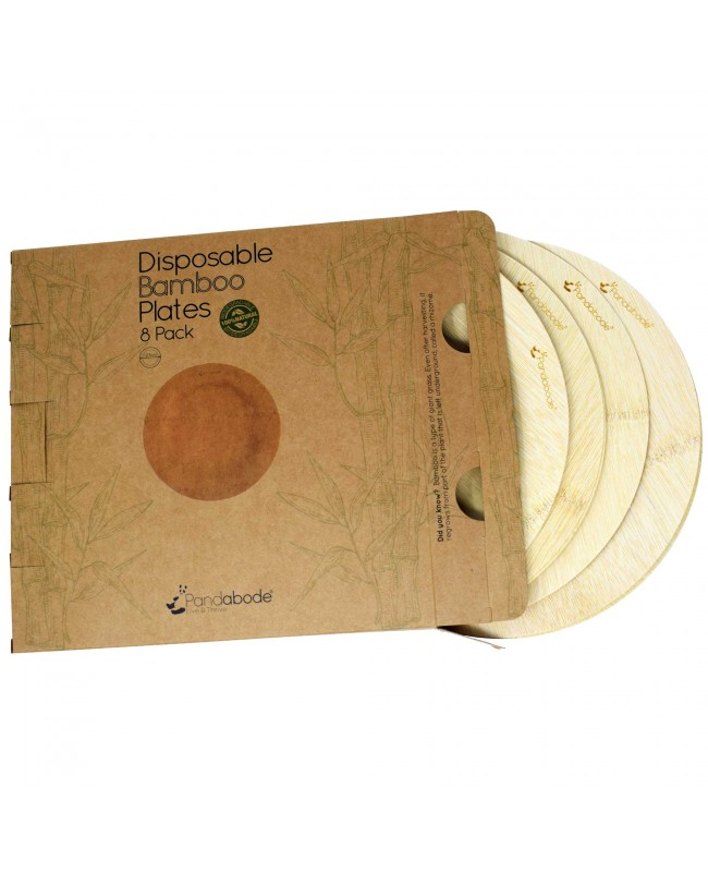 Disposable Bamboo Plates 8 Pack